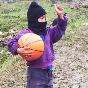 Young Zapatista basketball player