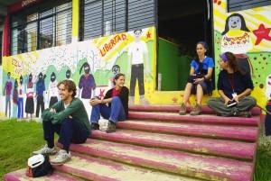 Travel delegation at school