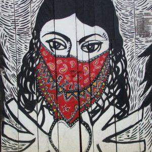 Zapatista Woman Mural