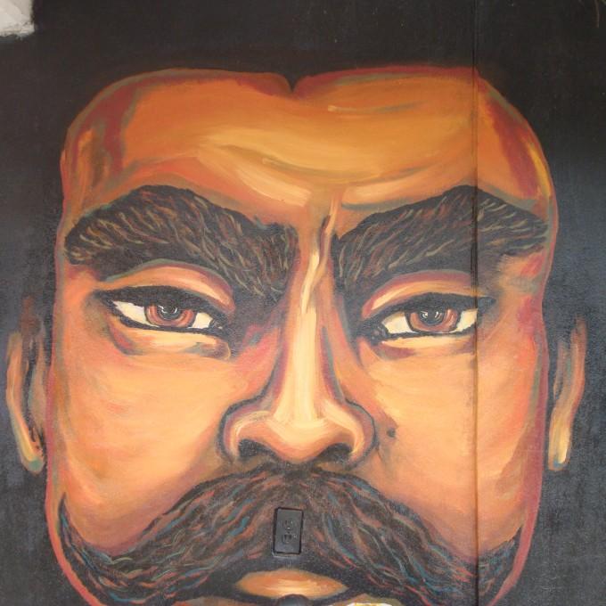 Emiliano zapata and malcolm x schools for chiapas for Emiliano zapata mural