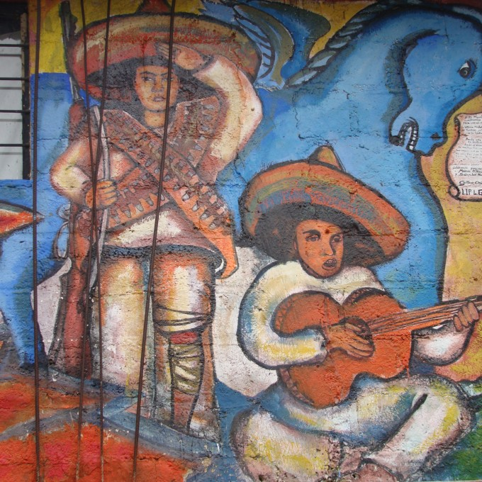 Zapatista corridos schools for chiapas for Mural zapatista