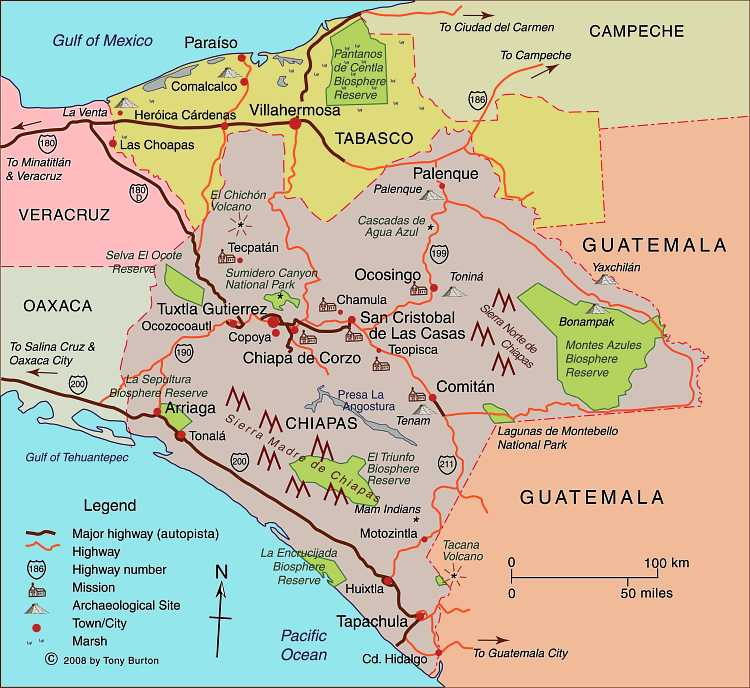 Three Zapatista Related Maps Of Chiapas