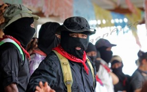 Zapatista spokesperson Sub-commander Insurgent Moises is an indigenous person from Chiapas, Mexico.