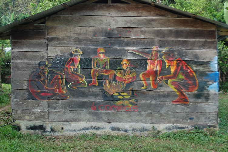 Zapatista school mural la monta a chiapas mexico for Mural zapatista