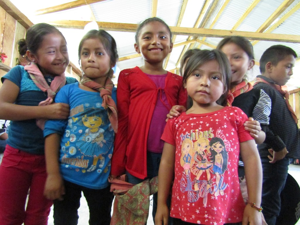 Zapatista students gather inside their new school during the September 2016 dedication in a remote community in the center of Chiapas, Mexico.